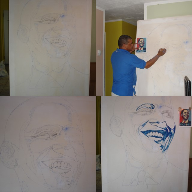 PROCESO DE PINTURA DEL PROJECT DE OBAMA ART